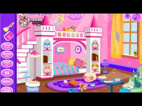 Princess Games -  Princess Room Cleanup - Princess home cleaning game