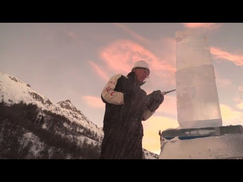 AFP news agency: International ice sculpture contest held in the French Alps