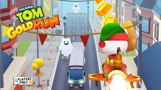 Talking Tom Gold Run | ELF ANGELA, Halloween PUMPKIN PARTY #2! By Outfit7 Limited