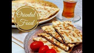 Gözleme mit Spinat - Schafskäse - Füllung I gefüllte Teigtaschen I Pfannenbörek I Ramadan