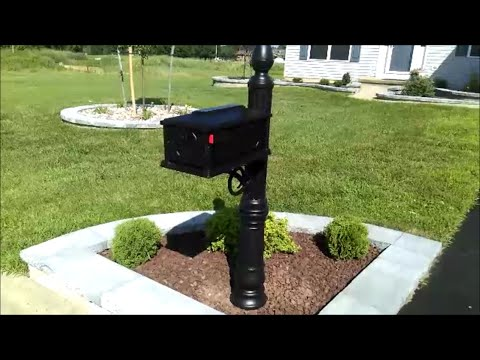 Install & Review Stratford Mailbox Post Combo Black Gibraltar Industries 205091588 SC000B01