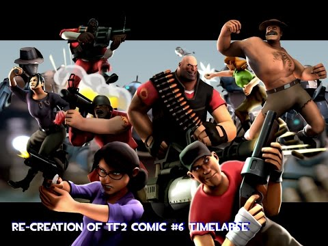 re creation of tf2 comic sfm timelapse youtube
