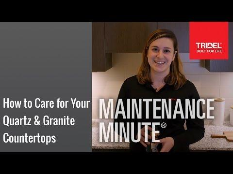 How to Care for Your Quartz & Granite Countertops