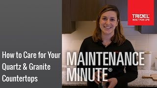 How to Care for Your Quartz & Granite Countertops