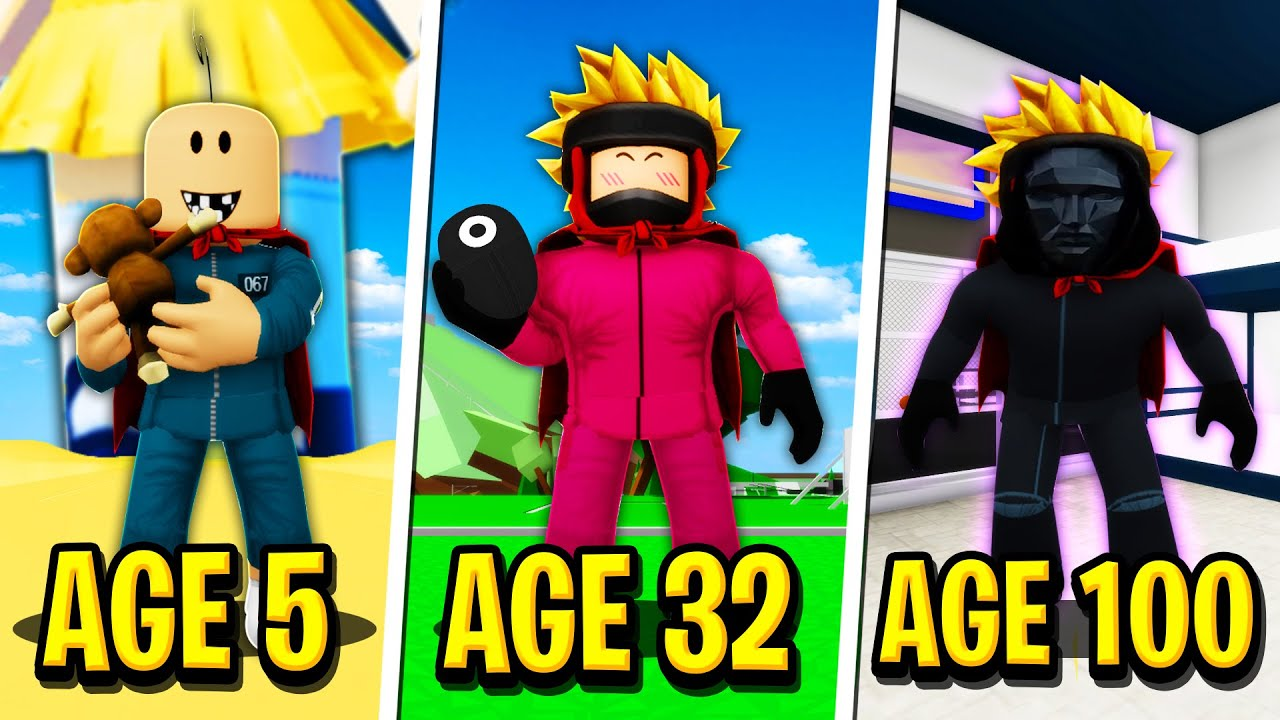 Download We Survived 100 YEARS in SQUID GAME in Roblox BROOKHAVEN RP!!