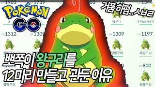 [포켓몬GO]왕구리를 12마리를 만든 뽀쪽 이젠 헤어지려합니다.[포켓몬고][Pokémon Go]