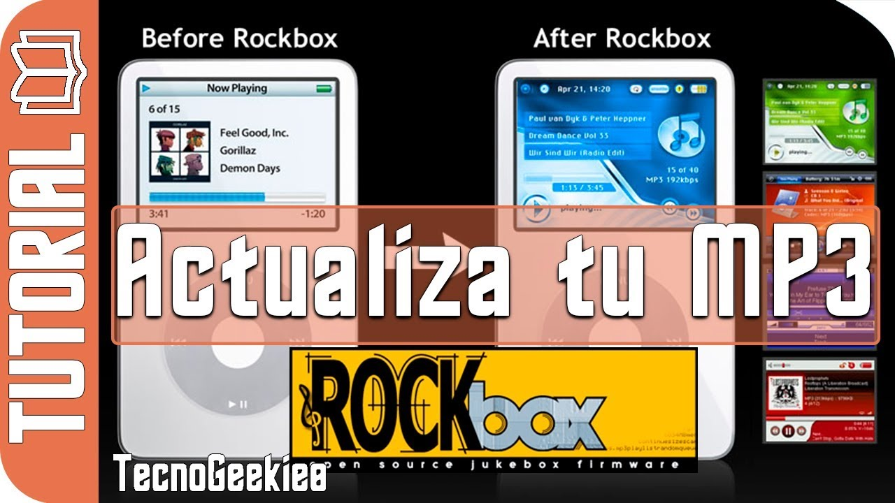 Rockbox: Actualiza tu antiguo mp3 como iPod Zune juke iaudio con .