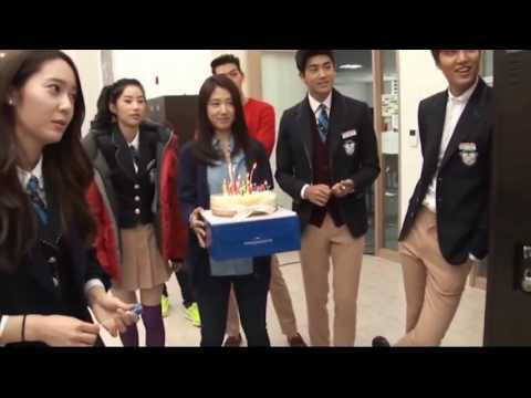 Lee min ho park shin hye & Kim woo bin funny moment Heirs Special Making