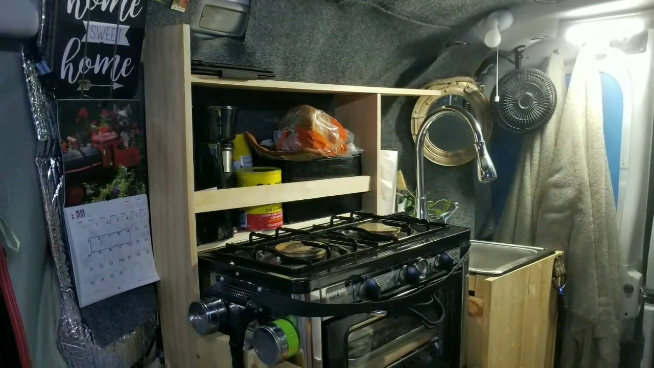 Dodge Ram Promaster >> Van life, Kitchen shelves Ram Promaster 2016 Van build. May 2017 - YouTube