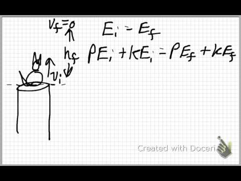 Height of a projectile using energy