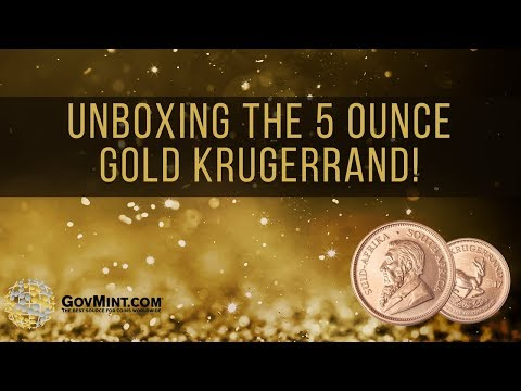 Unboxing the 5 Ounce Gold Krugerrand!