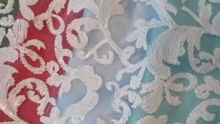 Шикарный гипюр вышивка паеткой для нарядных платьиц!