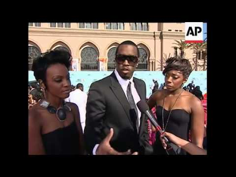 Beyonce, Diddy And Wyclef Jean On The BET Awards Red Carpet