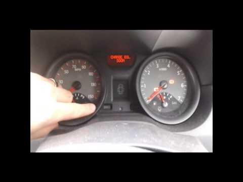 Renault Megane 2 Service warning light Reset. Change your own oil.