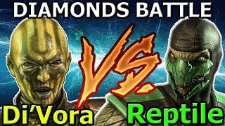 КЛАССИЧЕСКИЙ РЕПТИЛИЯ ПРОТИВ ДИ ВОРЫ ОТРОДЬЕ БИТВА АЛМАЗОК Mortal Kombat X mobile ios