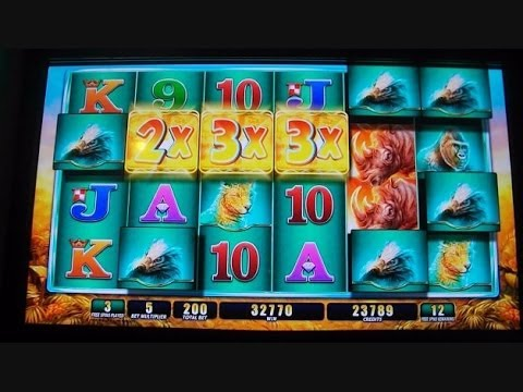Raging Rhino HANDPAY JACKPOT!!!!!!! Slot Machine Buffalo Inspired BIG GIANT HUGE MEGA BIG WIN
