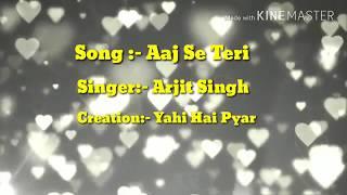 Aaj Se Teri|Padman|Arijit Singh|Bollywood Latets whatsapp status Song 2018.