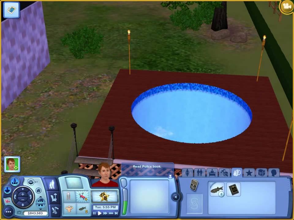 How to use the curved pool tool on sims 3 youtube for Pool design sims 4