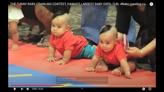THE FUNNY BABY CRAWLING CONTEST, HAWAII