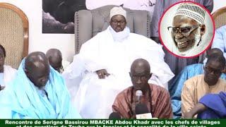 Serigne Bass Abdou Khadre Rencontre avec les chefs de village
