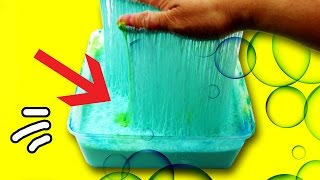 HOW TO MAKE BUBBLY SPIDERWEB SLIME! Super Sticky Slime without Borax by Bum Bum Surprise Toys