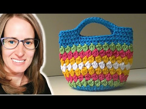Cluster Stitch Bag Crochet Tutorial - Idea's for hat
