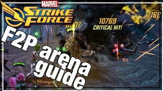 ★ Marvel Strike Force Arena Guide free-to-play (f2p arena guide) MSF arena team guide/build