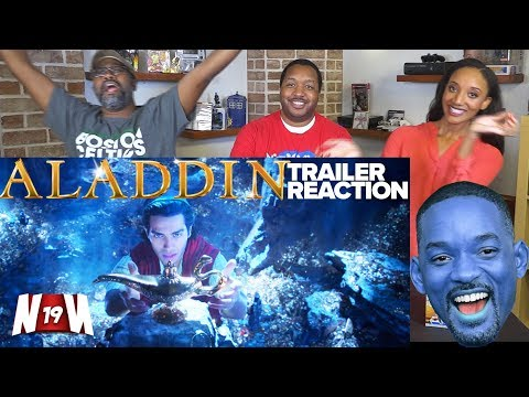 NERDS REACT to ALADDIN Teaser Trailer #1 (2019) | Will Smith, Naomi Scott, Mena Massoud!