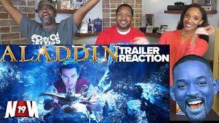 NERDS REACT to ALADDIN Teaser Trailer #1 (2019) | Will Smith, Naomi Scott, Mena Massoud!
