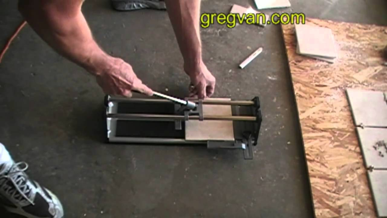 How to Cut Multiple Tiles Using Ceramic Tile Cutter - YouTube