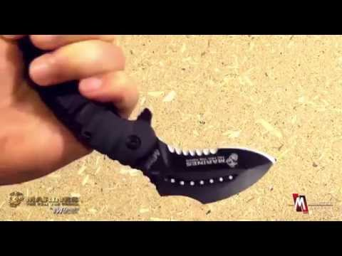 US Marines by Mtech USA M-A1019BK Tactical Spring Assisted Folding Karambit Product Video