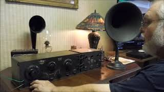 1921 Grebe CR-3 Tuner & RORD Detector / Amplifier - First Power Up  September 28 2018
