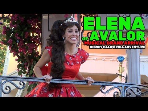 Elena of Avalor: Musical Grand Arrival NEW FULL SHOW Christmas 2016 at Disney California Adventure