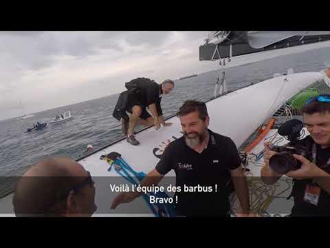 La victoire de Sodebo Ultim' sur la Transat Jacques Vabre dans les yeux d'un Sodeboy