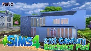 Sims 4 House Building - 21st Century Bachelor Pad - Part 2