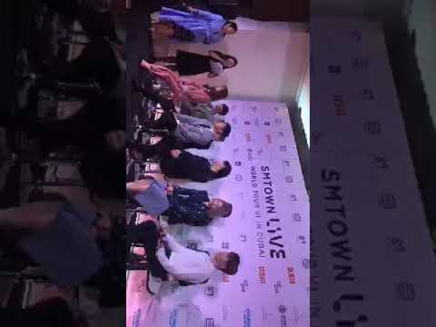 180406 SMTown Live In Dubai Press Conference (Live from @Platinumlist on Periscope)