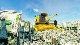 I Grew and Harvested $100 Bills - Farming Simulator 19