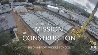 Mission Middle School - New 2 story building (8 hour time lapse)