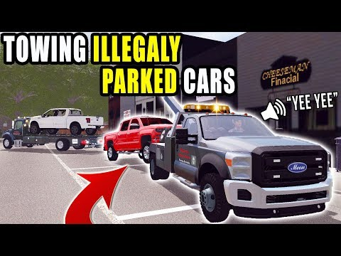 TOWING AWAY PARKING VIOLATORS! | F-350 TOW TRUCK | FARMING SIMULATOR 2017 thumbnail