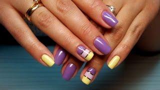 Дизайн ногтей гель-лак Shellac - декоративная нить (уроки дизайна ногтей)