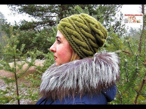 Вязать шапку спицами женскую со схемами с косами