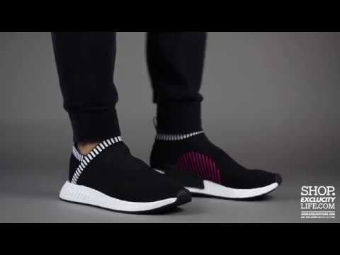 dbd5ec30ce7dd Adidas NMD Citysock 2 Black Pink On feet Video at Exclucity - YouTube
