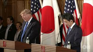 Shinzo Abe, Donald Trump hold joint press conference (full) thumbnail