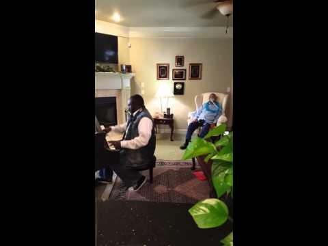 Marvin Williams sings at Robert Momon