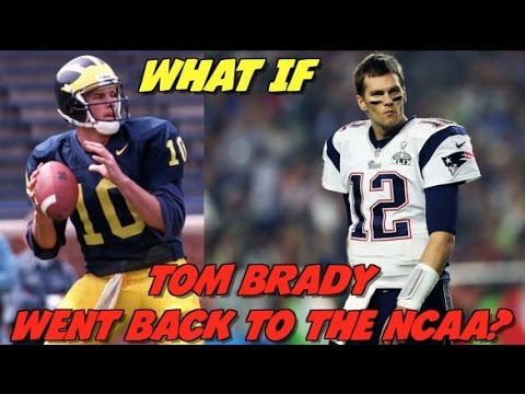"""WHAT IF"" TOM BRADY WENT BACK TO THE NCAA! BRADY VS ALABAMA CRIMSON TIDE!"
