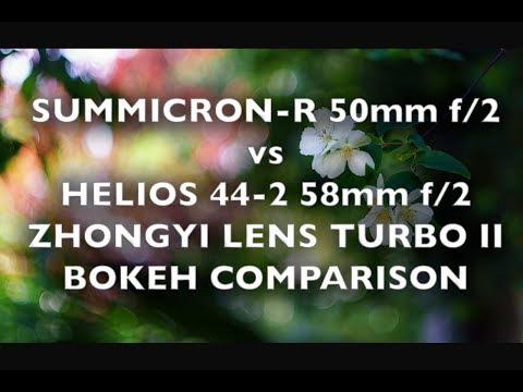 SUMMICRON-R 50mm F/2 Vs HELIOS 44-2 58mm F/2 Bokeh Comparison
