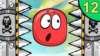 Несносный КРАСНЫЙ ШАР против монстров #12. Лесная долина 3. Мультик ИГРА Red Ball на Игрули TV