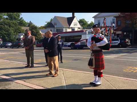 9/11 16th anniversary in Amherst: Bell tolls, bagpiper plays 'Amazing Grace'