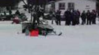 Snowmobile Drag Races, Lake of Bays, Ontario Huntsville