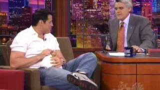 Matt Leblanc gets a dog on Jay Leno (2.8.2002) - part 1
